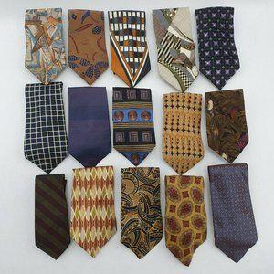 Lot of 15 Necktie Ties Silk Kenneth Gordon Jones S